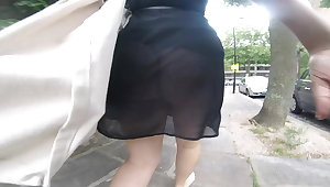 Upskirt at the park