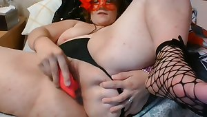 THICC Goth Bae Gets High and Soaks Her Victoria's Secret Panties - CREAMY